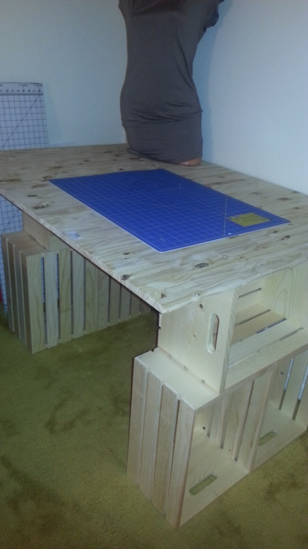 Sewing Table Joanns EASY DIY CRAFT TABLE | Tonia Made It
